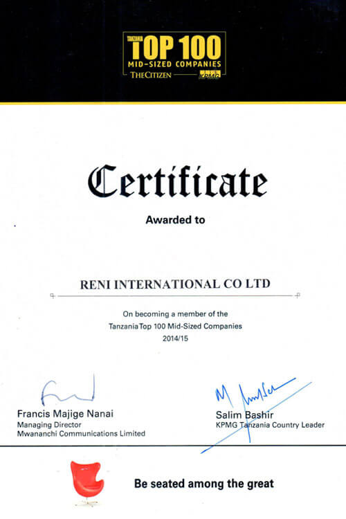 Awards & Recognitions | RENI INTERNATIONAL « Solution to All